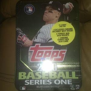 Yankees judge Topps MLB baseball card tin New
